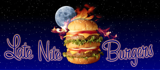 Late Nite Burgers sign